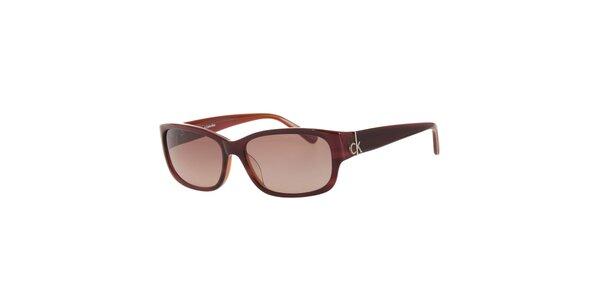 Dámské tmavě červené sluneční brýle Calvin Klein