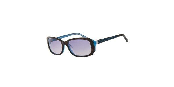 Dámské hnědo-modré sluneční brýle Calvin Klein