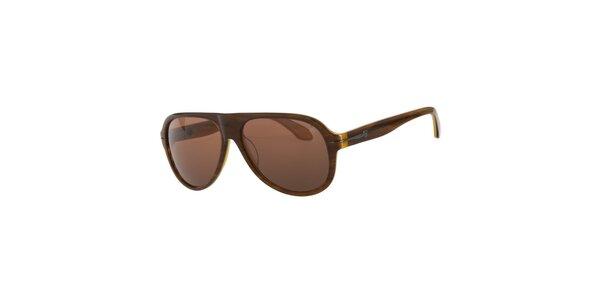 Dámské hnědé sluneční brýle Calvin Klein
