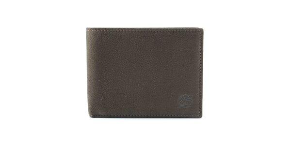 Pánská tmavě hnědá kožená peněženka Timberland