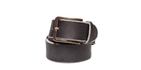 Pánský kožený pásek s bronzovou sponou Timberland