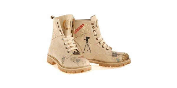 Dámské kotníkové boty s filmovým motivem Elite Goby