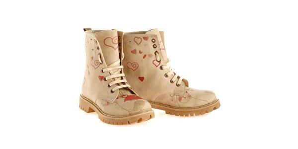 Dámské kotníkové boty se srdíčky Elite Goby