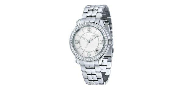 Dámské ocelové hodinky ve stříbrné barvě Klaus Kobec