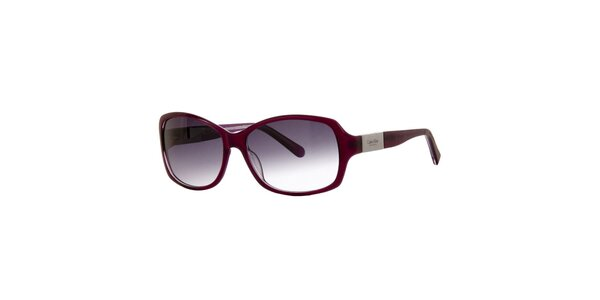 Dámské vínové sluneční brýle Calvin Klein