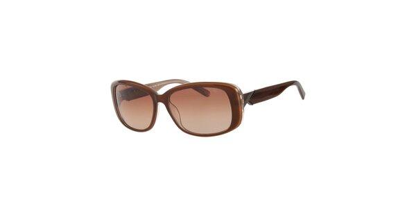 Dámské karamelové sluneční brýle Calvin Klein