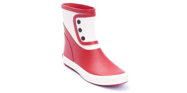 Dámské červeno-bílé holínky Lola Ramona