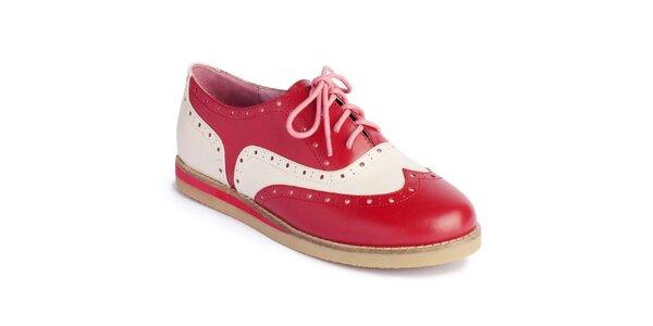 Dámské červeno-bílé polobotky Lola Ramona