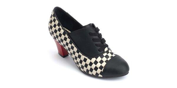 Dámské kotníčkové boty s šachovnicí Lola Ramona