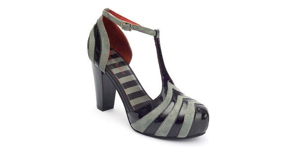 Dámské pruhované boty s přezkou Lola Ramona