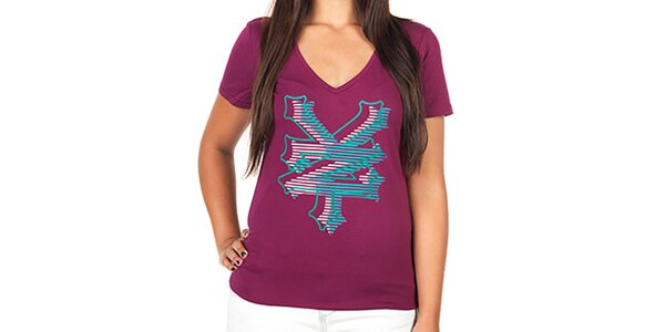 Dámské tričko s barevnými písmeny Zoo York