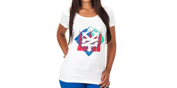 Dámské bílé potištěné tričko Zoo York