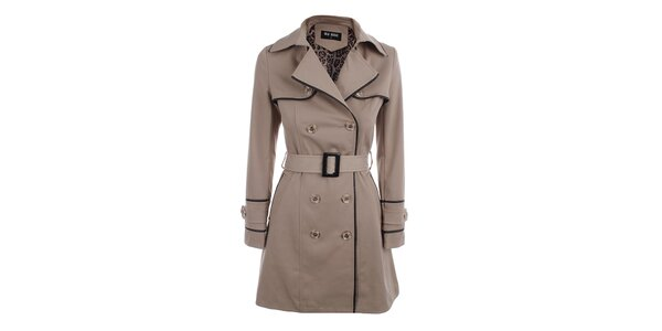Dámský béžový dvouřadý kabát Blue Deise