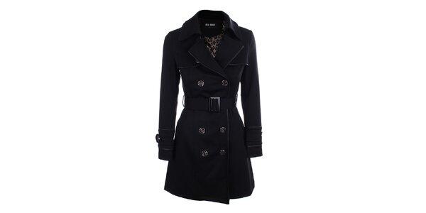 Dámský černý dvouřadý kabát Blue Deise