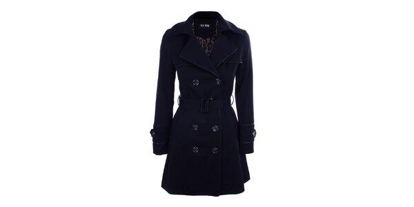Dámský modrý dvouřadý kabát Blue Deise