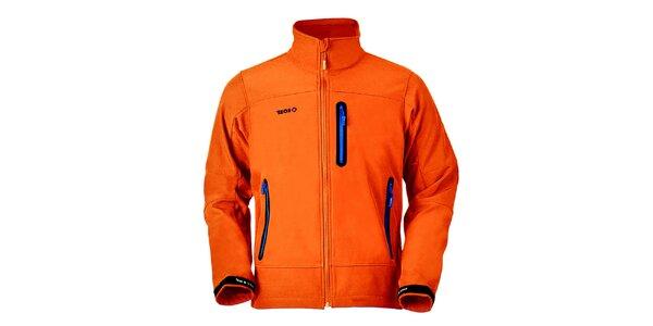 Pánská oranžová bunda na zip Izas