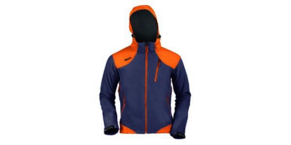 Pánská šedo-oranžová funkční bunda s kapucí Izas