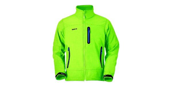Pánská limetková bunda na zip Izas