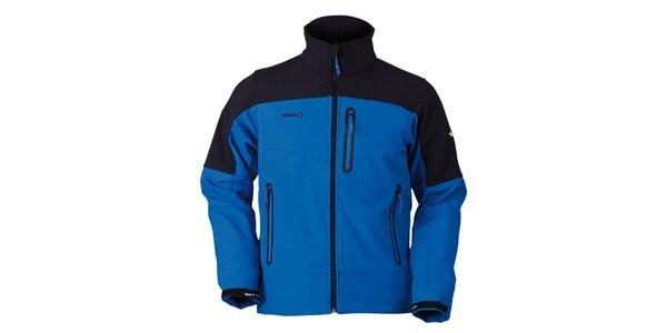 Pánská černo-modrá bunda na zip Izas