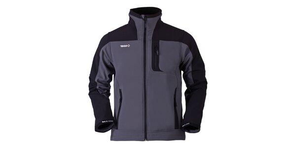 Pánská šedo-černá softshellová bunda Izas