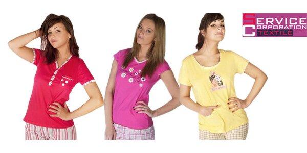 Dámská bavlněná pyžama v několika motivech