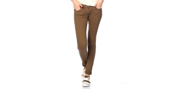 Dámské bavlněné kalhoty v khaki barvě Jimmy Key