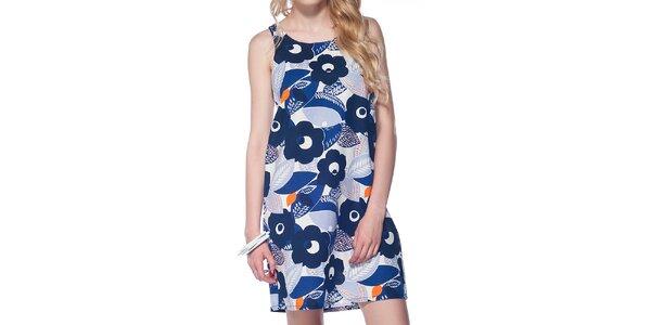 Dámské modré šaty s kvítky Jimmy Key