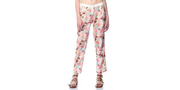 Dámské růžové vzorované kalhoty Jimmy Key