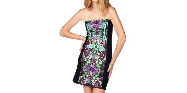 Dámské úzké černé šaty se vzorem Jimmy Key