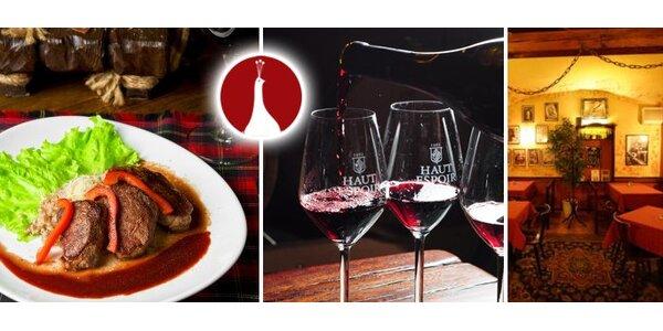 299 Kč za zvěřinové menu pro dva - předkrm, kančí speciality a portské víno