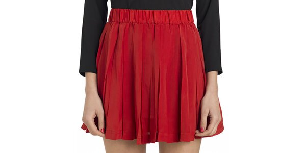 Dámská červená plisovaná minisukně Compania Fantastica