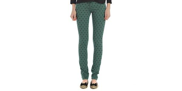 Dámské zelené puntíkaté kalhoty Compania Fantastica