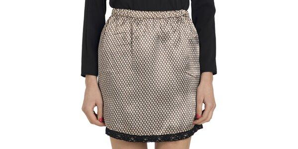 Dámská vzorovaná lesklá sukně do pasu Compania Fantastica