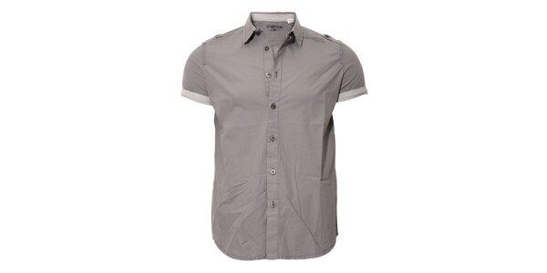 Ležérní pánská košile Energie v šedé barvě