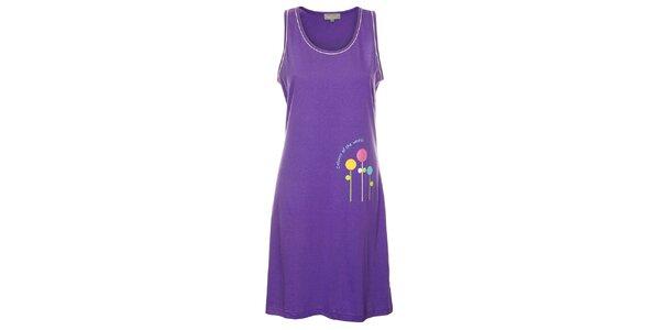 Dámská fialová noční košile Cocodream