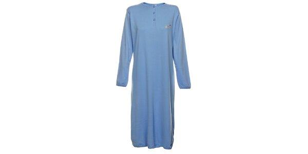 Dámská světle modrá dlouhá noční košile Cocodream