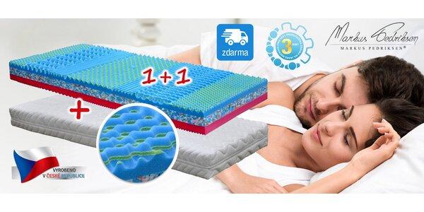 2 matrace na jednolůžko s paměťovou pěnou