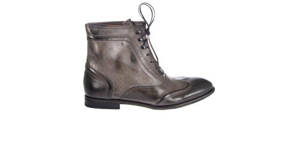 Dámské ocelově šedé kotníkové boty Hudson