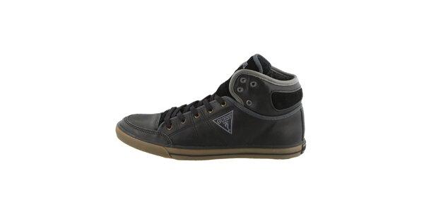 Pánské černé šněrovací boty Guess
