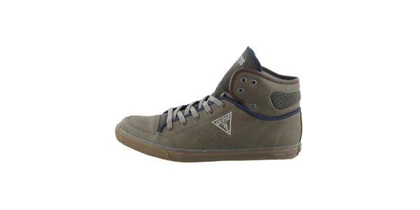 Pánské zelené šněrovací boty Guess