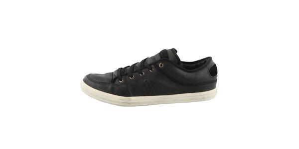Pánské černé kožené boty Guess