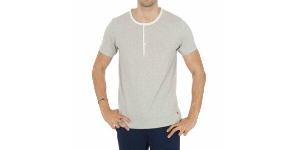 Pánské světle šedé pyžamové tričko Ralph Lauren