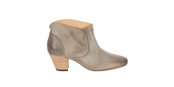 Dámské béžové kotníkové boty Hudson