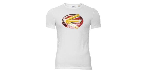 Bílé pánské triko Energie s potiskem