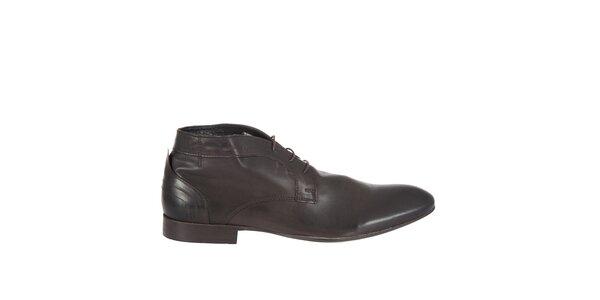 Pánské tmavě hnědé kotníkové boty Hudson