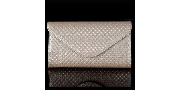 Dámské perlově šedé vzorované psaníčko Felice
