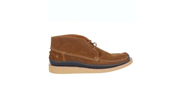 Pánské světle hnědé semišové boty Hudson