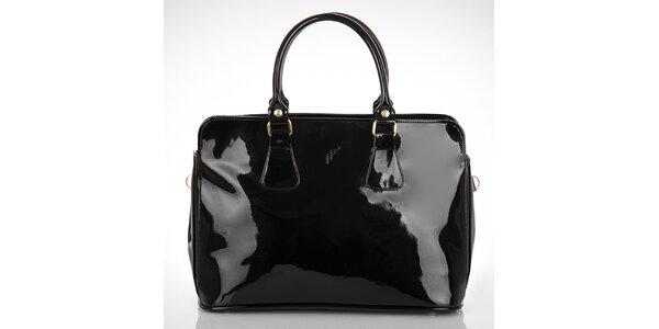 Dámská lesklá černá kabelka Felice