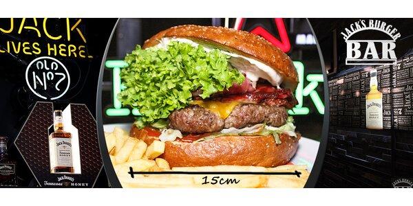 Obří Mega Beef Burger v Jack´s Burger Baru
