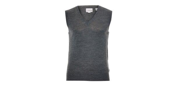 Pánská pletená vesta Energie v šedé barvě